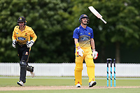 Otago's Hamish Rutherford is dismissed during the Wellington Firebirds v Otago Volts, Ford Trophy One Day match round five at Bert Sutcliffe Oval in Lincoln, New Zealand on Friday, 29 November 2019. Photo: Martin Hunter / lintottphoto.co.nz