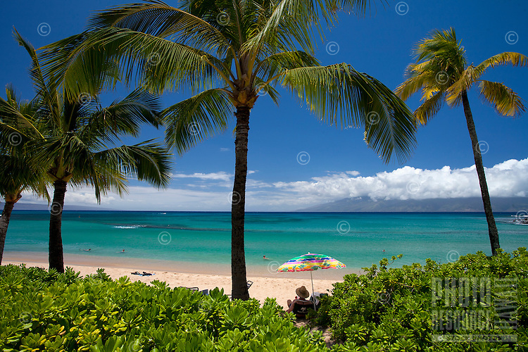 A beautiful day at Napili Bay, Maui, Hawaii, USA.