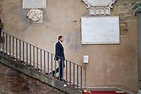Roma, 20 Luglio, 2014. Il Sindaco di Roma Ignazio Marino, scende una scala al Campidoglio.