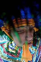 OLINDA, PE, 08.02.2016 - CARNAVAL-PE - Caboclo de lana no encontro de Maracatu na Casa da Rabeca, em Olinda (PE), durante esta segunda-feira (08). (Foto: Diego Herculano / Brazil Photo Press)