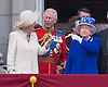 CAMILLA, QUEEN AND PRINCE CHARLES<br /> appear on the balcony of Buckingham Palace to watch the Royal Air Force Flypast as part of the Trooping of the Colour, London_15th June 2013<br /> The annual event marks the Queen's Official Birthday.<br /> Photo Credit: &copy;Dias/NEWSPIX INTERNATIONAL<br /> <br /> **ALL FEES PAYABLE TO: &quot;NEWSPIX INTERNATIONAL&quot;**<br /> <br /> PHOTO CREDIT MANDATORY!!: NEWSPIX INTERNATIONAL<br /> <br /> IMMEDIATE CONFIRMATION OF USAGE REQUIRED:<br /> Newspix International, 31 Chinnery Hill, Bishop's Stortford, ENGLAND CM23 3PS<br /> Tel:+441279 324672  ; Fax: +441279656877<br /> Mobile:  0777568 1153<br /> e-mail: info@newspixinternational.co.uk