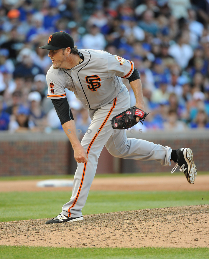 San Francisco Giants Joe Nathan (74) during a game against the Chicago Cubs on September 4, 2016 at Wrigley Field in Chicago, IL. The Cubs beat the Giants 3-2.