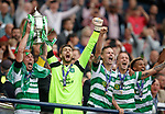 Scott brown lifts the Scottish Cup