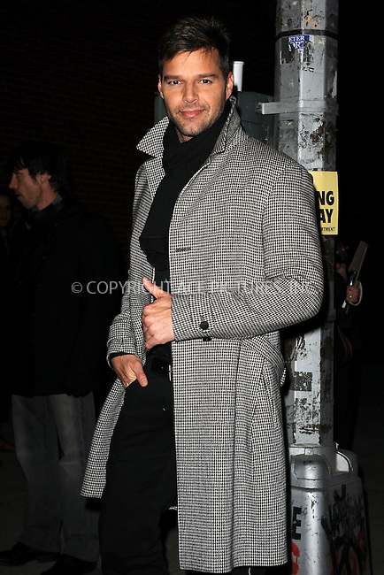 WWW.ACEPIXS.COM . . . . . ....December 8 2009, New York City....Singer Ricky Martin arriving at the launch of VEVO, a new music and video website, at Skylight Studio on December 8, 2009 in New York City.....Please byline: KRISTIN CALLAHAN - ACEPIXS.COM.. . . . . . ..Ace Pictures, Inc:  ..tel: (212) 243 8787 or (646) 769 0430..e-mail: info@acepixs.com..web: http://www.acepixs.com