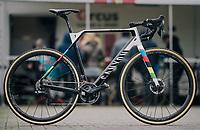 CX World Champion Mathieu Van Der Poel's (NED/Correndon-Circus) newest race machine<br /> <br /> Superprestige cyclocross Hoogstraten 2019 (BEL)<br /> Elite Men's Race<br /> <br /> ©kramon