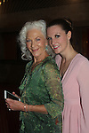 """Linda Thorson (One Life To Live) stars in """"Blithe Spirit"""" with As The World Turns Elieanor Handley (who just recently attended fellow castmate Tom Degnan at his wedding - on opening night - July 24. 2016 at the Pennsylvania Shakespeare Festival in Center City, Pennsylvania. (Photo by Sue Coflin/Max Photos)"""