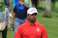 Anirban Lahiri (Asia) walking to the 2nd tee during the Singles Matches of the Eurasia Cup at Glenmarie Golf and Country Club on the Sunday 14th January 2018.<br /> Picture:  Thos Caffrey / www.golffile.ie