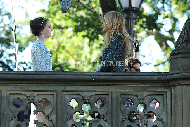 WWW.ACEPIXS.COM . . . . . .October 11, 2012...New York City....Leighton Meester and Blake Lively filming on the set of Gossip Girl in Central Park on October 11, 2012 in New York City ....Please byline: KRISTIN CALLAHAN - ACEPIXS.COM.. . . . . . ..Ace Pictures, Inc: ..tel: (212) 243 8787 or (646) 769 0430..e-mail: info@acepixs.com..web: http://www.acepixs.com .