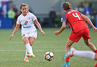Portland, OR - Wednesday June 28, 2017: Alexa Newfield during a regular season National Women's Soccer League (NWSL) match between the Portland Thorns FC and FC Kansas City at Providence Park.