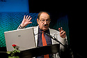 Umberto Eco, Italian writer and semiologist, speaks at Milanesiana twelfth edition in Milan, July 2011. Milanesiana is a literature, music, cinema, science, art, philosophy and videogames festival. © Carlo Cerchioli..Umberto Eco, scrittore e semiologo, parla alla 12 edizione dellla Milanesiana, festival di letteratura, musica, cinema, scienza, arte, filosofia e videogiochi, Milano, luglio 2011.