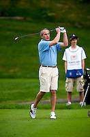 06/24/09 - Photo by John Cheng for Newsport.Pro-AM particpant tees off at the Traverlers Championship during the Pro-AM event at TPC River Highlands in Cromewll, Connecticut.