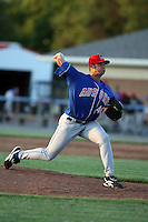 June 21st, 2007:  Adam Rogers of the Auburn Doubledays, Class-A affiliate of the Toronto Blue Jays at Dwyer Stadium in Batavia, NY.  Photo by:  Mike Janes/Four Seam Images