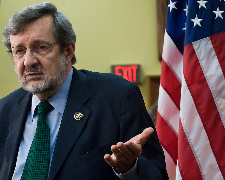 Rep. David Obey, D-Wisc., holds a news conference on Wednesday, May 5, 2010, to announce his retirement from Congress.