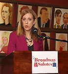 Janet Allon attends Broadway Salutes 10 Years - 2009-2018 at Sardi's on November 13, 2018 in New York City.