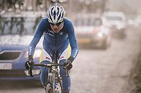 Mathias Van Gompel (BEL/Sport Vlaanderen-Baloise)<br /> <br /> 50th GP Samyn 2018<br /> Quaregnon > Dour: 200km (BELGIUM)