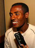 Kenenisa Bekele of Ethiopia at the Prefontaine Classic Press Conference on Saturday, June 7th. 2008. Photo by Errol Anderson, The Sporting Image.
