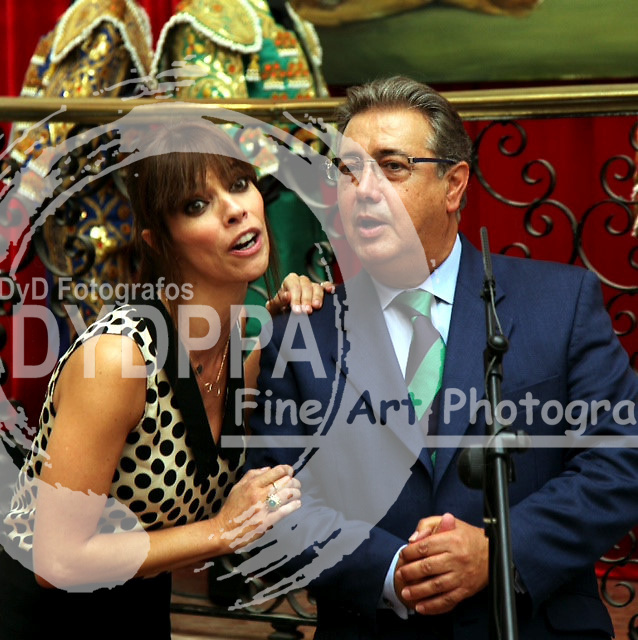 Seville City Mayor Juan Ignacio Zoido, acompanied by the Cultural action general director Mrs. Elvira Marco. President of the Academy of Motion Picture Arts and Sciences in Spain, Enrique Gonz&aacute;lez Macho and actress Maribel Verdu presents &quot;Journey to the Spanish cinema 27 years of the Goya awards&quot; <br /> Photo: Manuel Olmedo12-09-2013