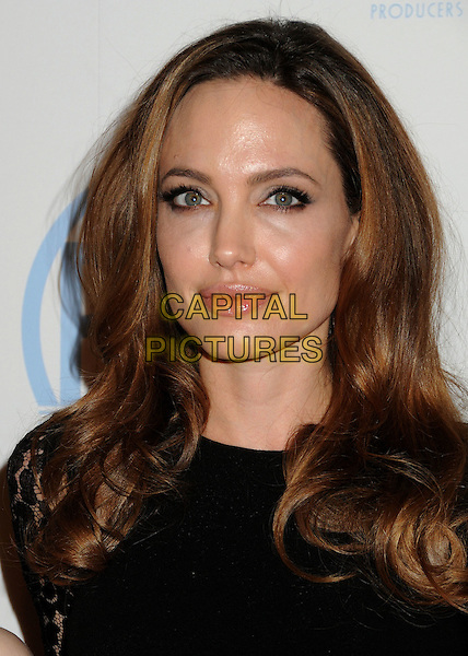 Angelina Jolie.23rd Annual Producers Guild Awards held at the Beverly Hilton Hotel, - Beverly Hills, California, USA, .21st January 2012..portrait headshot black beauty make-up .CAP/ADM/BP.©Byron Purvis/AdMedia/Capital Pictures.