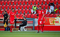 17th May 2020,Stadion An der Alten Försterei, Berlin, Germany; Bundesliga football, FC Union Berlin versus Bayern Munich;  Coach Hans-Dieter Flick of Munich watches the action from the edge of the field.