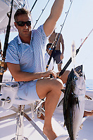 Maurice, a model, on a deep sea fishing trip for a photo shoot in  Zihuatanejo,  Mexico 5-19-05