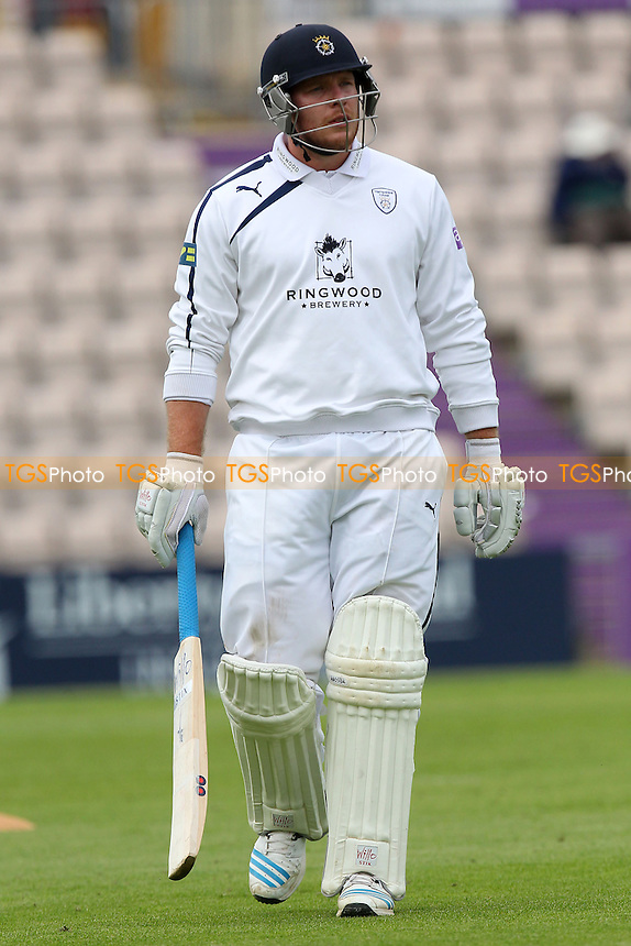 Matt Coles of Hampshire walks off the field having been dismissed - Hampshire CCC vs Essex CCC - LV County Championship Division Two Cricket at the Ageas Bowl, West End, Southampton - 15/06/14 - MANDATORY CREDIT: Gavin Ellis/TGSPHOTO - Self billing applies where appropriate - 0845 094 6026 - contact@tgsphoto.co.uk - NO UNPAID USE