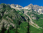 North Cascades National Park, WA<br /> Memaloose Ridge from Walker Meadows along the North Fork of Bridge Creek