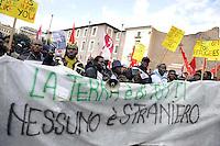 Roma, 14 Gennaio 2012.Manifestazione nazionale contro il razzismo, per il permesso di soggiorno e l'accoglienza