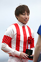 Kenichi Ikezoe,<br /> APRIL 9, 2017 - Horse Racing :<br /> Jockey Kenichi Ikezoe after riding Reine Minoru to win the Oka Sho (Japanese 1000 Guineas) at Hanshin Racecourse in Hyogo, Japan. (Photo by Eiichi Yamane/AFLO)