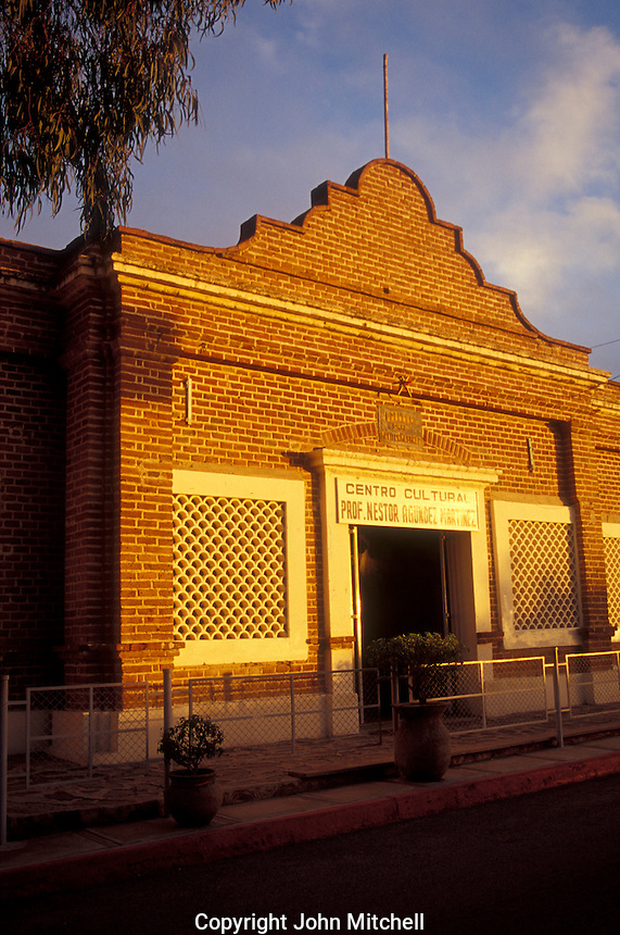 The Casa de la Cultura or Centro Cultural de Profesor Nestor Agundez Martinez in the Spanish colonial town of Todos Santos , Baja California Sur, Mexico