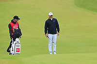 Brooks Koepka (USA) at the 8th green during Sunday's Final Round of the 148th Open Championship, Royal Portrush Golf Club, Portrush, County Antrim, Northern Ireland. 21/07/2019.<br /> Picture Eoin Clarke / Golffile.ie<br /> <br /> All photo usage must carry mandatory copyright credit (© Golffile | Eoin Clarke)