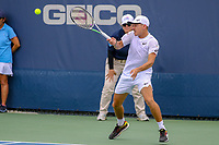 Washington, DC - August 3, 2019:  Alex De Minaur (AUS) hits the ball during the  Men Doubles semi finals at William H.G. FitzGerald Tennis Center in Washington, DC  August 3, 2019.  (Photo by Elliott Brown/Media Images International)