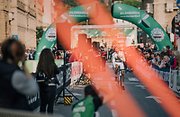 Brice Feillu (FRA/Fortuneo-Samsic) at the race start in Bergamo<br /> <br /> 112th Il Lombardia 2018 (ITA)<br /> from Bergamo to Como: 241km