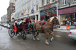 Horse drawn carriage in Quebec City in Feb.