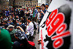 Occupy Wall Street members attend the Spring training season at Zuccotti park in New York, United States. 23/03/2012.  Photo by Eduardo Munoz Alvarez / VIEWpress.