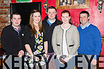 Enjoying the Kerry Macra na Feirme awards in Pat Sheahan's bar, Firies on Saturday night front row l-r: Shane randles Kenmare, Zeta Ashe Mid Kerry, John Mike Fitzgerald Chairman, Michelle Flynn Mid kerry, James O'Connor Mid Kerry