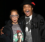 "Dascha Polanco and James Harkness backstage after a performance of ""Ain't Too Proud"" at the Imperial Theatre on April 11, 2019 in New York City."