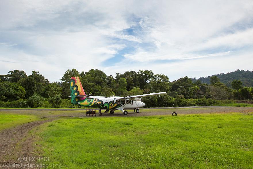 Drake Bay airport, Osa Peninsula, Costa Rica, May.