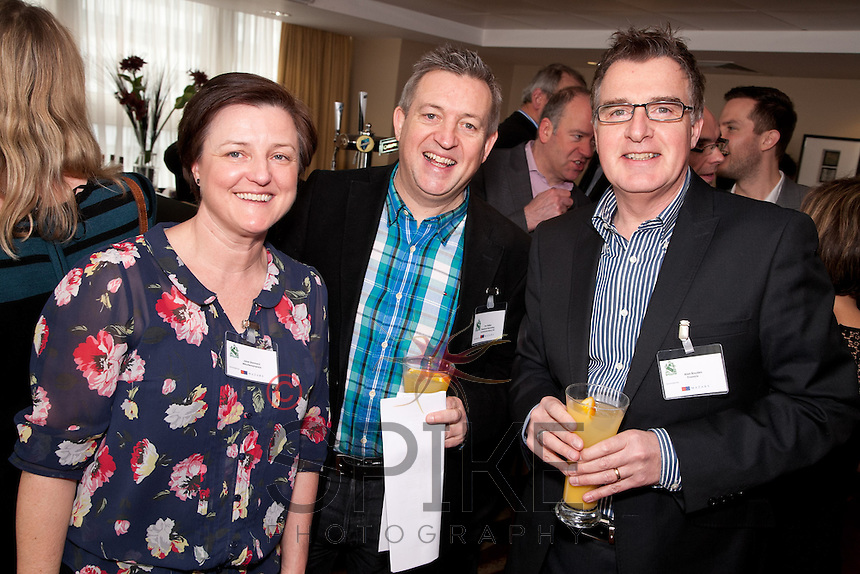 Pictured from left are Jane Stannard of Minuteman Press, Tim Phillips and Alan Boyden both from Freestyle Marketing Communications