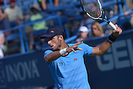Washington, DC - August 5, 2015: Feliciano Lopez prepares for a forehand shot during a match against Lleyton Hewitt at the Citi Open tennis tournament at the FitzGerald Tennis Center in the District of Columbia, August 5, 2015.  (Photo by Don Baxter/Media Images International)