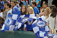 Chelsea F.C training at Busch Stadium, St Louis ahead of the friendly game verus Manchester City..Chelsea fans.