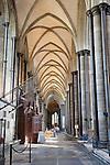 North Nave Aisle in Salisbury Cathedral Church; Salisbury; England; UK