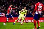 Sergio Busquets of FC Barcelona (R) in action during the La Liga 2018-19 match between Atletico Madrid and FC Barcelona at Wanda Metropolitano on November 24 2018 in Madrid, Spain. Photo by Diego Souto / Power Sport Images