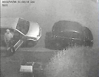 "Pictured: CCTV image released by South Wales Police showing four persons are observed walking along pavement past a Silver Ford Fusion in which Malaciah Thomas is sat.<br /> 1st Male Dan Roberts followed by 2nd Male Christopher Griffiths, he is followed shortly by a third Male Saif Shazhad, (Thomas is seen getting out of the car as Shazhad passes) the 4th Male is Awez Jamshaid.<br /> Re: Earlier this week Christopher Griffiths and Awez Jamshaid were convicted of murdering Malaciah Thomas and Saif Shahzad was found guilty of manslaughter.<br /> A fourth man, Daniel Roberts, admitted murder partway through the trial.<br /> Today, all four were sentenced at Cardiff Crown Court:<br /> Daniel Roberts, Christopher Griffiths, and Awez Jamshaid, were all sentenced to life imprisonment.<br /> Roberts, 20, and Griffiths, 30, must serve a minimum of 25 years, while 19-year-old Jamshaid will serve at least 11 years.<br /> Shahzad, 19, was sentenced to 7 years 6 months in a Young Offenders Institution.<br /> Just before 2am on Monday, July 23 2018, officers were called to reports of a serious assault in the front garden of a house in Corporation Road, Grangetown.<br /> Malaciah Thomas 20, suffered multiple stab wounds and died at the scene.<br /> Speaking after the sentencing at Cardiff Crown Court, Senior Investigating Officer Detective Chief Inspector Gareth Morgan said: ""Malaciah Thomas was stabbed to death just two days before his 21st birthday and our thoughts are with his family and friends.<br />  ""This tragic case sadly highlights the devastating and far-reaching consequences of knife crime.<br />  ""Knife crime has risen across the UK and unfortunately we are not an exception to that.<br />  ""During the early hours of Monday, July 23rd 2018 four young men left an address in Roath and drove to Grangetown.<br />  ""Two of them were armed with knives - all four knew the objective was to attack Malaciah.<br />  ""Following a thorough investigation and trial at Cardiff Crown Court, they have been convicted and will spend a significant part of their lives in prison"