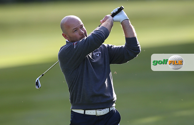 MOTD pundit Alan Shearer during the Pro-Am ahead of the 2015 BMW PGA Championship over the West Course at Wentworth, Virginia Water, London. Picture David lloyd, www.golffile.ie: 20/05/2015