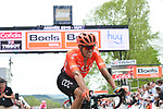 Alessandro De Marchi (ITA) CCC Team crosses the finish line at the end of the 83rd edition of La Fl&egrave;che Wallonne 2019, running 195km from Ans to Huy, Belgium. 24th April 2019<br /> Picture: ASO/Gautier Demouveaux | Cyclefile<br /> All photos usage must carry mandatory copyright credit (&copy; Cyclefile | ASO/Gautier Demouveaux)