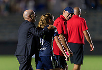 Cary, NC - August 15, 2019:  The North Carolina Courage defeated Manchester City 2-1 during the Women's International Champions Cup at WakeMed Soccer Park.