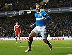Kenny Miller celebrates his goal for Rangers