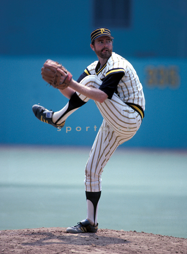 Pittsburgh Pirates Bert Blyleven(22) in action during a game from the1979 season at Three Rivers Stadium Stadium Pittsburgh, Pennsylvania.  Bert Blyleven (played for 22 years with 4 different  and was inducted to the Baseball Hall of Fame in 2011.