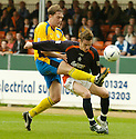 02/04/2005         Copyright Pic : James Stewart.File Name : jspa04_falkirk_v_st_johnstone.IAN MAXWELL CHALLENGES DAYRLL DUFFY.Payments to :.James Stewart Photo Agency 19 Carronlea Drive, Falkirk. FK2 8DN      Vat Reg No. 607 6932 25.Office     : +44 (0)1324 570906     .Mobile   : +44 (0)7721 416997.Fax         : +44 (0)1324 570906.E-mail  :  jim@jspa.co.uk.If you require further information then contact Jim Stewart on any of the numbers above.........A