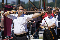 Every Year in June, almost a million people celebrates Japan Day in Düsseldorf, together with the city's Japanese expatriat community which is the biggest in Germany. Kyudo (archery) demonstration.